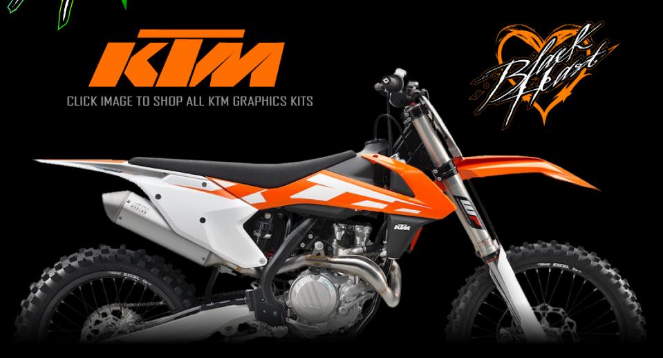 2018 Graphics Kits Black Heart MX Custom Printed EZ UP Canopies Honda Kawasaki KTM