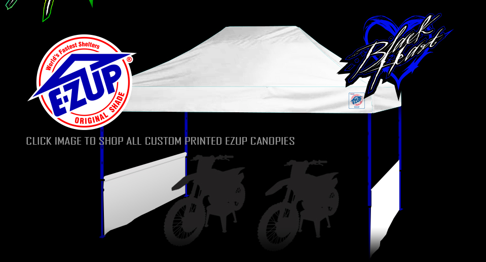 2018 Graphics Kits; Black Heart MX Custom Printed EZ-UP Canopies ...  sc 1 th 165 & Black Heart MX - The Worldu0027s Best Motocross Graphics Kits